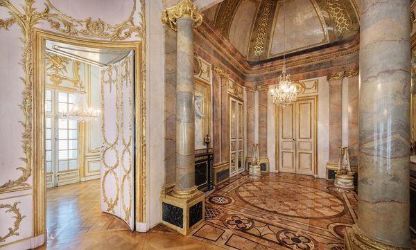 Marmorsaal in Schloss Solitude; Foto: Staatliche Schlösser und Gärten Baden-Württembergs, Günther Bayerl