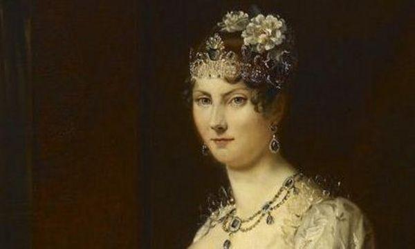 Bildnis Großherzogin Stéphanie von Baden, 1.Hälfte 19. Jahrhundert,  Kopie von Schmitt nach François Gérard, wohl Karlsruher Hofmaler