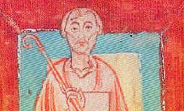 Miniatur des Abts Wilhelm von Hirsau, Schenkungsverzeichnis des Klosters Reichenau, um 1150