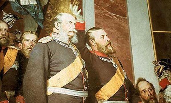 Die Kaiserproklamation in der 2. Fassung, Detail