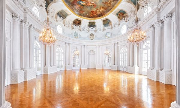 Weißer Saal im Schloss Solitude Stuttgart; Foto: Staatliche Schlösser und Gärten Baden-Württemberg, Günther Bayerl